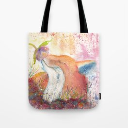 Watercolor Fox in the Forest Tote Bag