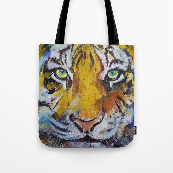 Tiger Psy Trance Tote Bag
