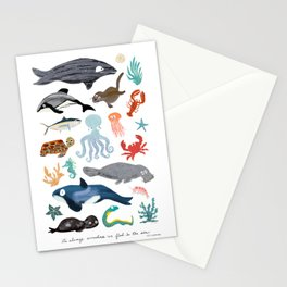 Sea Change: Ocean Animals Stationery Cards