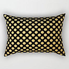 Medium gold dots pattern Rectangular Pillow
