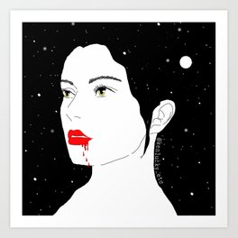 bloody night Art Print