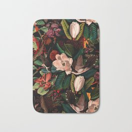 FLORAL AND BIRDS XIV Bath Mat
