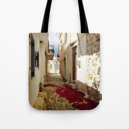 Streets of Greece Tote Bag