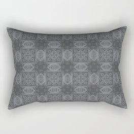 Sharkskin Geometric Floral Rectangular Pillow
