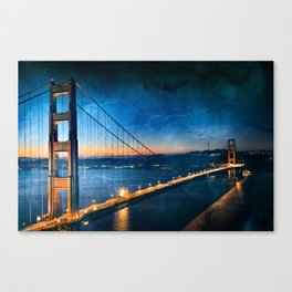 Golden Gate Ghost Bridge Canvas Print