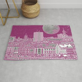 PURPLE AND THE CITY Rug