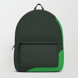 Dark Grey & Bright Green - oblique Backpack