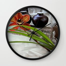 Salt And Pepper With Cream Wall Clock