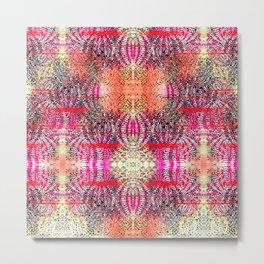 Textured Tiles Metal Print