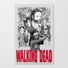 Walking Dead Canvas Print