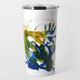 hand on painting Travel Mug