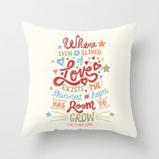 Sliver of Love Throw Pillow