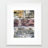 mineral Framed Art Prints featuring MINERAL by Sorbetedelimon