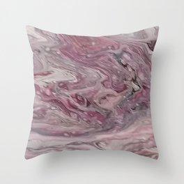 Simply Mauve-elous Throw Pillow
