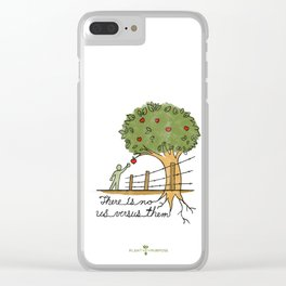 Plant With Purpose - There is no us versus them Clear iPhone Case