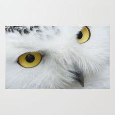 Snowy Owl Eyes Rug