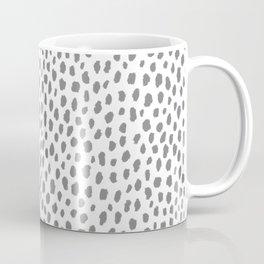 Gray Dalmatian Spots (gray/white) Coffee Mug