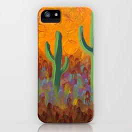 Saguaros Dreaming iPhone Case