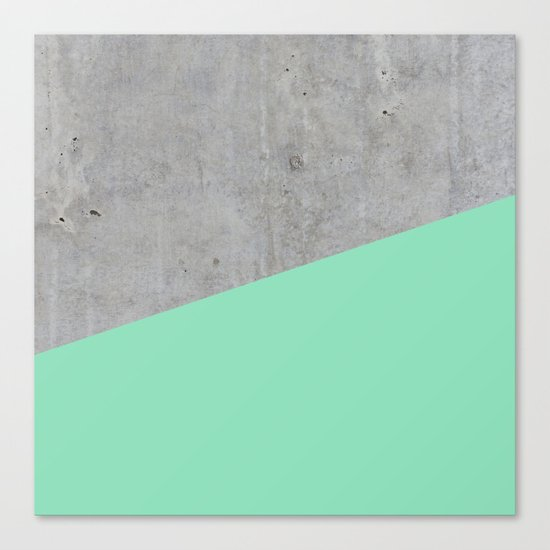 Concrete and sea Canvas Print