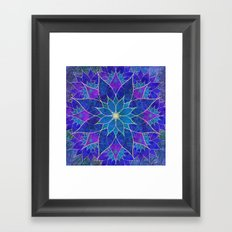Lotus 2 - blue and purple Framed Art Print