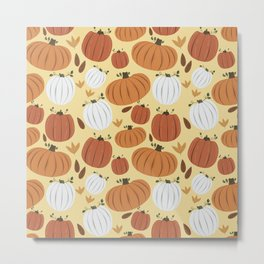 Fall Pumpkin Frenzy Metal Print