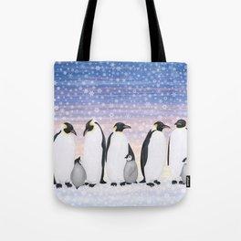emperor penguin colony Tote Bag