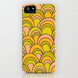 surfboard quiver 70s wallpaper dreams iPhone Case