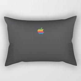 RETRO Apple Space Grey Rectangular Pillow