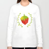 strawberry Long Sleeve T-shirts featuring Strawberry by Strawberringo