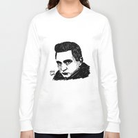 johnny cash Long Sleeve T-shirts featuring Johnny Cash by Feral Doe