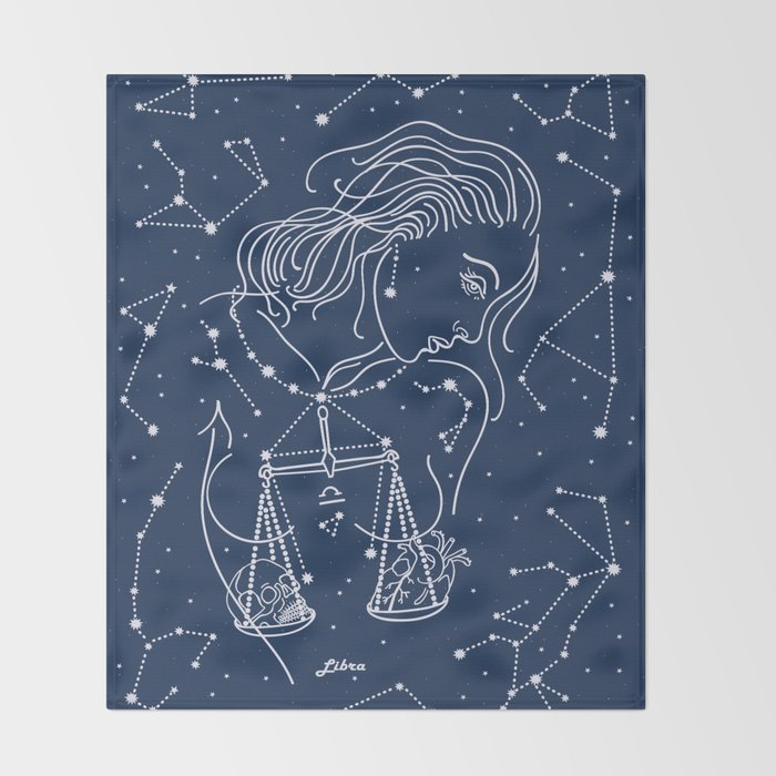 Libra zodiac sign Throw Blanket