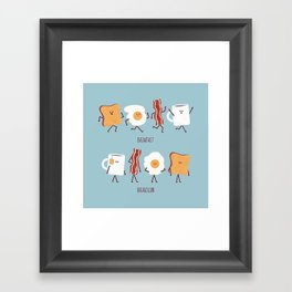 Opposites - Breakfast Framed Art Print