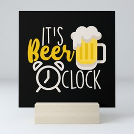 It's Beer O'Clock Mini Art Print