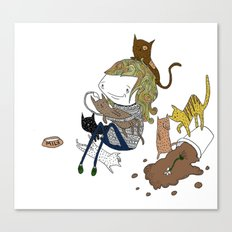 Cat Lady Canvas Print