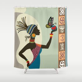 Afrocentric Chic I Shower Curtain