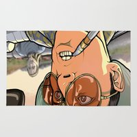 fear and loathing Area & Throw Rugs featuring fear and loathing in las vegas by Megoer