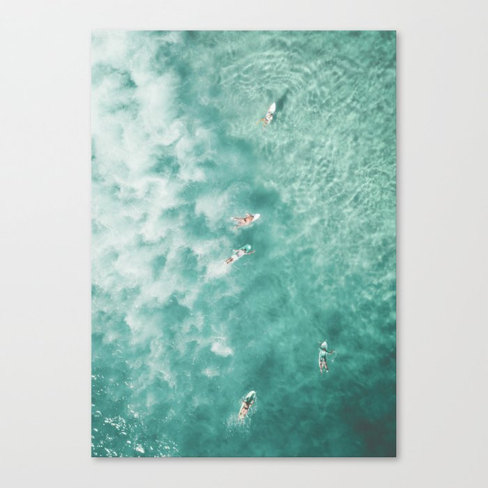 Surfing in the Ocean Canvas Print