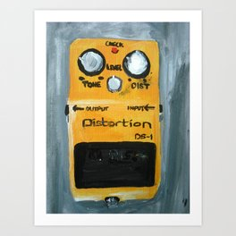 Guitar Pedal Boss DS1 Alternative Acrylic On Canvas Art Print