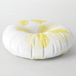 Labyrinth - Honey Floor Pillow