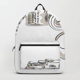35mm SLR Film Camera Drawing Backpack