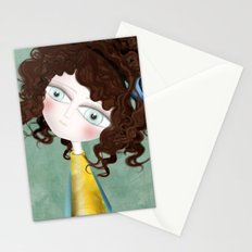 Sage Green Watercolor Art Stationery Cards