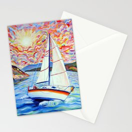 Sailing Okanagan Stationery Cards