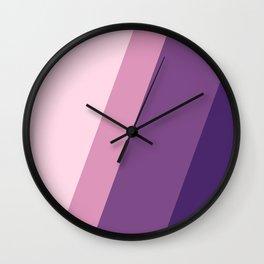 Purple Stripes Wall Clock