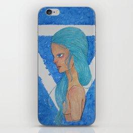 Element Series - Water Spirit, Water is Life, Blue Hair Anime iPhone Skin