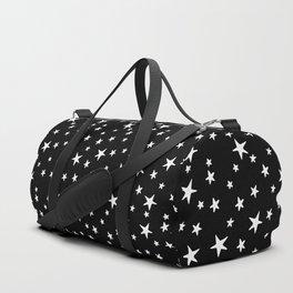Mini Stars - White on Black Duffle Bag