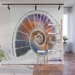The Nautilus Shell Transparent - Quote Wall Mural