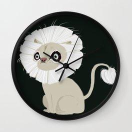 white lion Wall Clock
