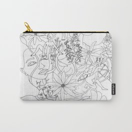 flowers and girls Carry-All Pouch