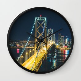 Bay Bridge Long Exposure - San Francisco, California Wall Clock