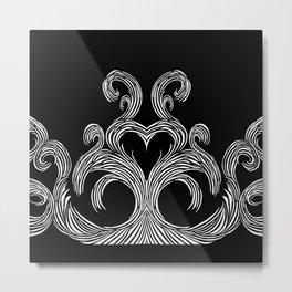 Swirls & Heart Metal Print